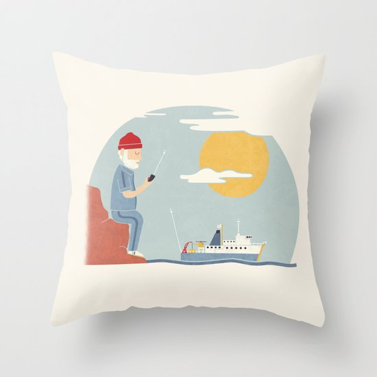 My RC Boat Throw Pillow