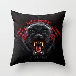 Wild Mode. Bjj, Mma, grappling Throw Pillow