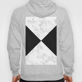 diagonal tiles marble black pattern Hoody