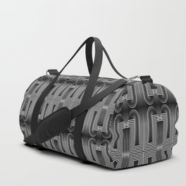 Art Deco 32 . Graffiti black and white Duffle Bag