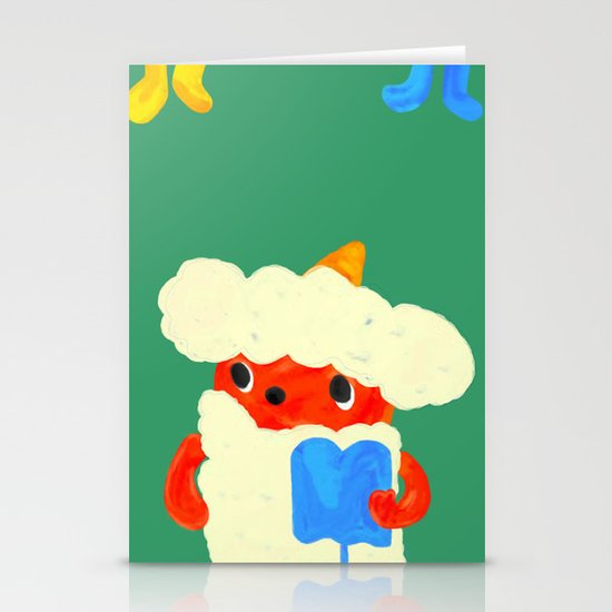 Baby demon (Japanese baby demon) Stationery Cards