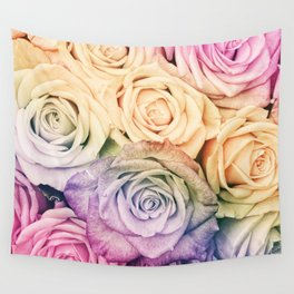 Some people grumble - Colorful Roses - Rose pattern Wall Tapestry
