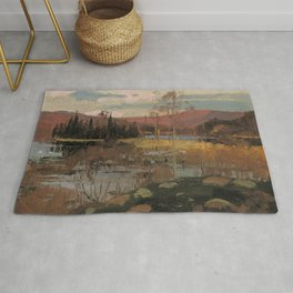 Tom Thomson - Spring in Algonquin Park - Canada, Canadian Oil Painting - Group of Seven Rug