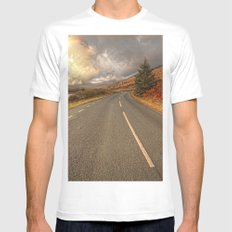 Road Of Colours Mens Fitted Tee White MEDIUM