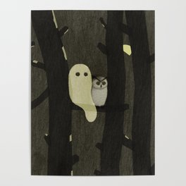 Little Ghost & Owl Poster