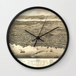 Panorama of Halifax, Nova Scotia, Canada (1879) Wall Clock