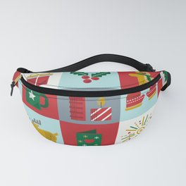 Fun Christmas Pattern Fanny Pack