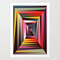 Retro Tunnel Art Print