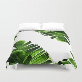 Green banana leaf Duvet Cover