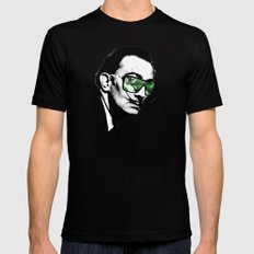 Dalì, what are you watching? Black MEDIUM Mens Fitted Tee
