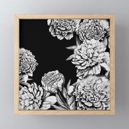 FLOWERS IN BLACK AND WHITE Framed Mini Art Print