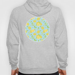 Bright And Sunny And Stamped Lemon Citrus Pattern Hoody