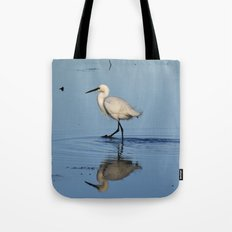 Egret walk Tote Bag
