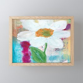 White Flower Framed Mini Art Print