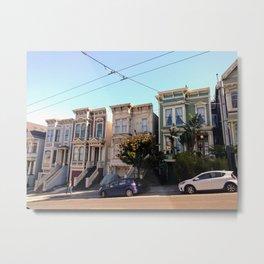 San Francisco Townhomes Metal Print