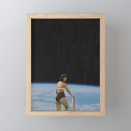 Diving Into the Deep End Framed Mini Art Print