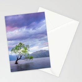 Wanaka Tree at Sunset Stationery Cards