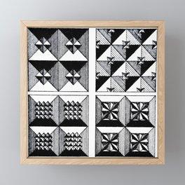 Engraved Patterns Framed Mini Art Print
