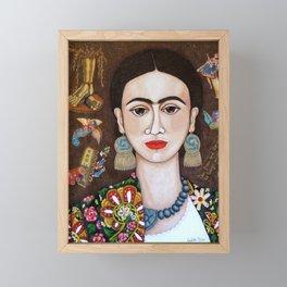 Frida thoughts Framed Mini Art Print