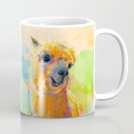 Colorful Happiness - Alpaca digital painting Coffee Mug