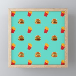 Burgers with fries Framed Mini Art Print
