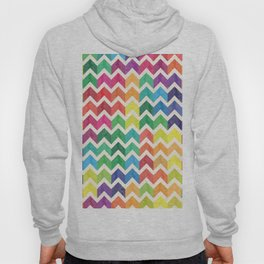 Watercolor Chevron Pattern IV Hoody
