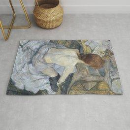 """Henri de Toulouse-Lautrec """"Rousse (La Toilette)"""" Rug"""