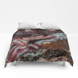 Earth treasures - patterns of colorful agate Comforters