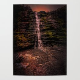 Tintagel beach waterfall Poster