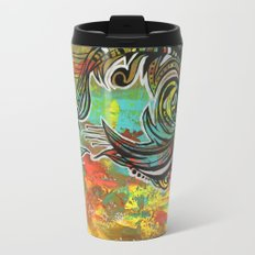 Orange green Travel Mug