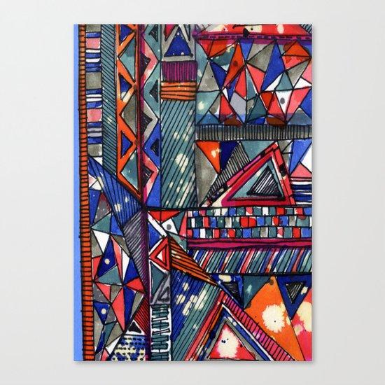 Tribal Texture Canvas Print