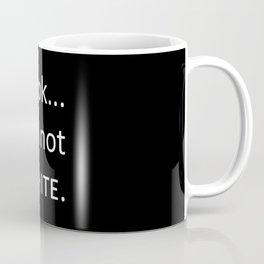 white: black Coffee Mug