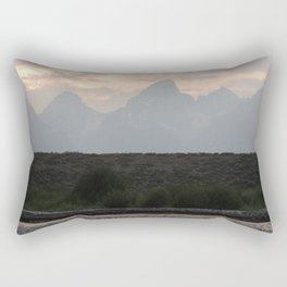 Grand Tetons by the Snake River Rectangular Pillow