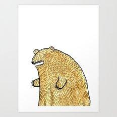 humble bear Art Print