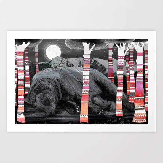 Sweet Dreams Ursus Arctus  Art Print