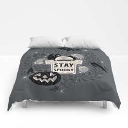 Stay Spooky Comforters