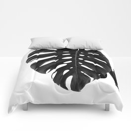 Monstera Delight #2 #tropical #decor #art #society6 Comforters