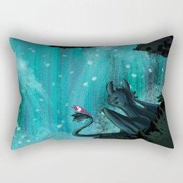 Toothless Paradise Rectangular Pillow