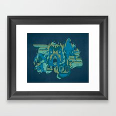 Deep Blue Sea Framed Art Print