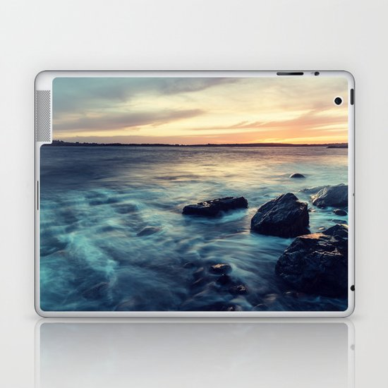 Sunset on the Breakwater Laptop & iPad Skin