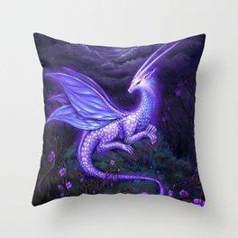 moonlight dragon Throw Pillow