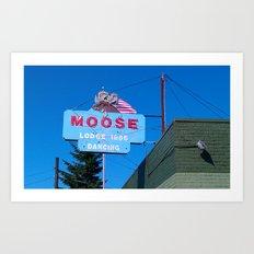 A Moose is a Moose Art Print