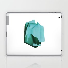 3D turquoise flying object  Laptop & iPad Skin