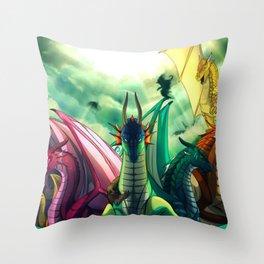 all dragon species Throw Pillow
