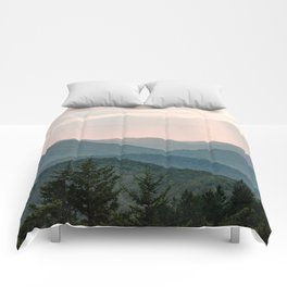 Smoky Mountain Pastel Sunset Comforters