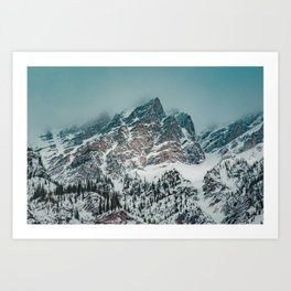 Jagged peaks in Banff National Park Art Print
