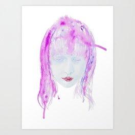 Eyes closed Art Print