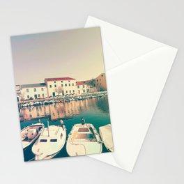 The Port Of Vinjerac, Croatia Stationery Cards