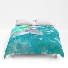 Amethys and Blue Quartz Crystal Rainbow Comforters