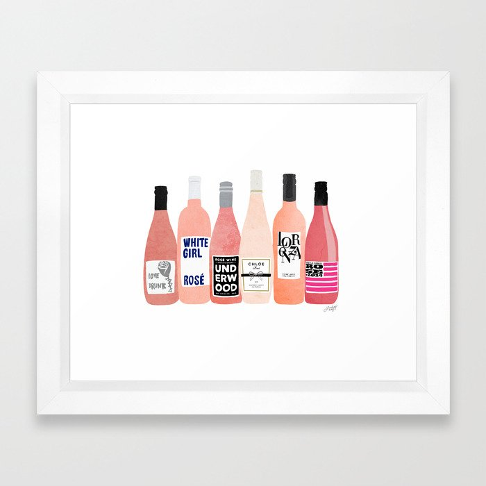 Rose Bottles Framed Art Print